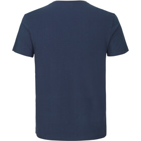 GripGrab Racing Stripe SS Organic Cotton T-Shirt, navy